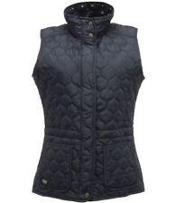 Button Wool Patternless Regular Size Waistcoats for Women