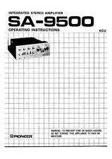 Pioneer SA-9500 Amplifier Owners Manual