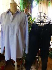 lot ;chemise bleue + pantalon toile noir offert