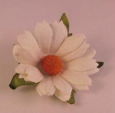 White Daisy Flower Men's Lapel Pin