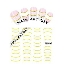Nail Art stickers Water Transfer-Adesivi con Decorazioni d'ORO-Fiorini Bianchi!!