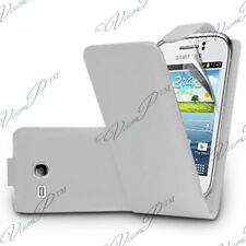 Housse Coque Etui Simili Cuir BLANC Samsung Galaxy Young S6310 Duos S6312 S6310L