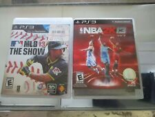 MLB 13 The show / NBA2K13 ps3 Playstation 3 - complete
