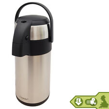 5L Air Pot Tea Flask Vacuum Flask Coffee S/S Insulated Safety Lock Carry Handle