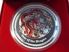 1 Kilo Silbermünze Lunar II Jahr des Drachen / Year of the Dragon 2012 Coloriert