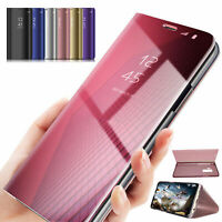 Flip Smart Case For Huawei P20 Pro/Lite P smart Clear View Mirror Stand Cover
