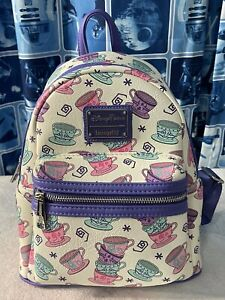 Disney Loungefly Mad Tea Party Tea Cups Backpack. NWT