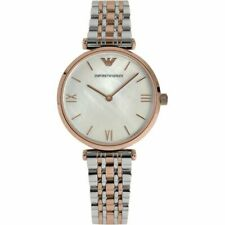 Emporio Armani Ladies Mother Of Pearl Two-Tone Watch AR1683