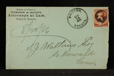 South Dakota: Britton Turney McCoy & Attorneys TERRITORIAL Cover, Fancy Cancel