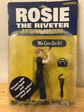 "NEW~ Rosie the Riveter Action Figure #11024~ 2003 ""We Can Do It!""  Accoutrements"
