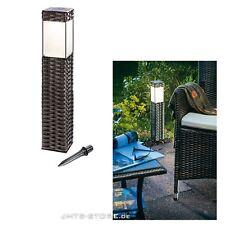 Solar LED Standleuchte Rattan Garten Beleuchtung Deko Licht Leuchte Gartenmöbel
