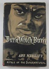 BURN WITCH BURN ABE A A MERRITT 1955 SPEARMAN BRITISH 1ST ED DJ