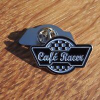 Motorcycle Vintage Biker Leather Jacket Cut Off Vest Enamel Pin Badge CAFE RACER