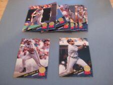 1993 Leaf Cleveland Indians Team Set With Update 18 Cards