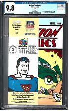 ACTION COMICS #1 CGC 9.8 (1998) REPRINT U.S.P.S. STAMP DC comics white pages