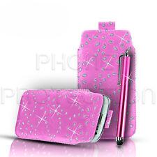 Bling Premium PU Leder Ziehen Tab Schutzhülle & Stylus Für Verschiedene Nokia Handys