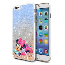 Glitter Effect Disney Minnie Hard Case Cover For Samsung Apple Huawei HTC - 25