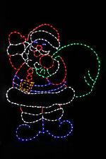 Life Size Cheerful Santa outdoor LED metal frame Christmas yard display