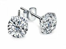 2* 1CT Classic Diamond Earring Star 925 Sterling Silver Love Heart Gift Her-ER15