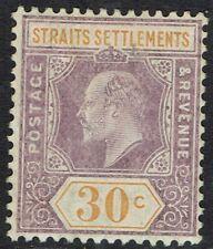 STRAITS SETTLEMENTS 1906 KEVII 30C