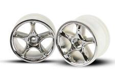 "NEW Traxxas 2472 Rear 2.2 "" Tracer Chrome Wheels (2) Bandit VXL XL5 *SHIPS FREE*"