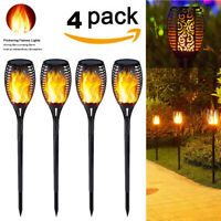 1-4X 33LED Solar Power Torch Light Flickering Flame Garden Waterproof Yard Lamp