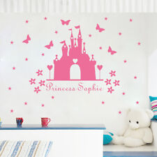 Disney Castle Princess  wall sticker Personalised any name girls wall art  DECOR