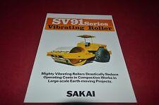 Sakai SV91 Vibrating Roller Dealer's Brochure DCPA6