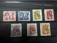 Nederland NVPH 114/120 Opruimingsuitgifte 1923 Gestempeld