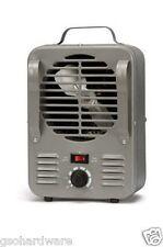 Soleil TFH-204 SMALL Milk House Heater Fan Forced 750W/1500W Metal Body 120v