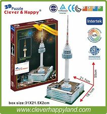 Free shipping Clever&Happy 3D Puzzle Model N Seoul Tower Toy Paper Diy games