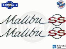 "1965 65 "" Malibu SS ""  Quarter Panel Emblem Script Super Sport Pair Made inUSA"