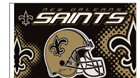 BUY 1 GET 1 FREE New Orleans Saints NFL 3x5 Flag - GOLD is the WRONG SHADE