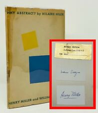 Why Abstract? - Henry Miller / Hilaire Hiler / William Saroyan - SIGNED by ALL 3
