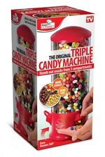 Candy Dispenser Machine 3 Compartments Gumball Gum Ball Snacks Types NEW