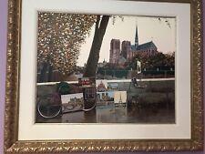 Liudmila Kondakova - Autumn on the Seine, hand-signed serigraph, Framed