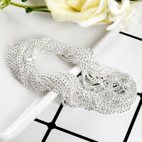5Pcs/Set Wholesale Cheap Fashion Silver Bead Chain Necklace Jewelry 16-30inch