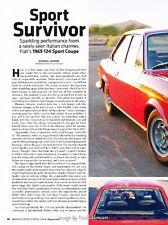 1969 Fiat 124 Sport Coupe Original Car Review Print Article J594