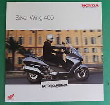 HONDA SCOOTER SILVER WING 400 ADVERTISING PUBBLICITA DEPLIANT CATALOGO BROCHURE