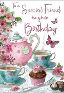 """To a Special Friend Birthday Card. Great Quality. Large Card 9"""" x 6"""""""
