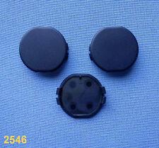 (2546) 3x rund Kappe für Motorabdeckung Motorhaube Kofferraum CLIPS schwarz 33mm