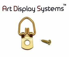 Art Display Systems 1 Hole Bp D-Ring Hanger 4 3/8 Screws – Pro Quality– 100 Pack