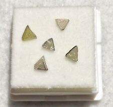 NATURAL LOOSE ROUGH DIAMOND TRIANGLE LOT GENUINE!!  (1/4CT).  L126