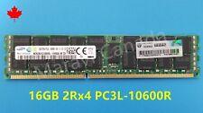HP 16GB 2RX4 DDR3 PC3L-10600R RAM Memory 647901-B21 647653-081 664692-001 G8