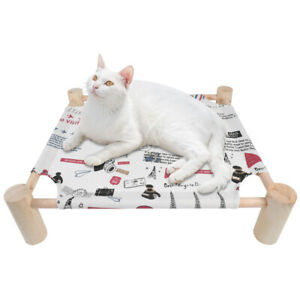Elevated Dog Bed Lounger Sleep Pet Cat Raised Cot Hammock Mat for Indoor Outdoor