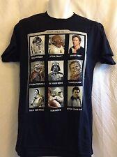 "Star Wars Men's T-Shirt Han Solo, R-2 D-2, Yoda Size Small Width 17"""