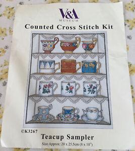 Already Started V & A Museum Teacup DMC Sampler Kit