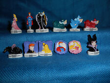SLEEPING BEAUTY Set of 12 Mini Figurines French Porcelain FEVES DISNEY Figures
