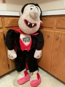 """Vintage Fable Plush Dracula 44"""" Tall Barq's Root beer Promo"""