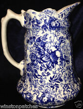 JAMES KENT ENGLAND 18TH CENTURY CHINTZ PITCHER 32 OZ BLUE CHINTZ OLD FOLEY